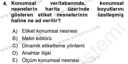 Konumsal Veritabanı 2 Dersi 2017 - 2018 Yılı (Final) Dönem Sonu Sınav Soruları 4. Soru