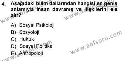 Sosyal Politika Dersi 2012 - 2013 Yılı Ara Sınavı 4. Soru