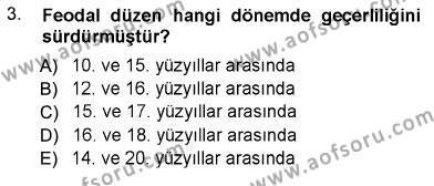 Sosyal Politika Dersi 2012 - 2013 Yılı Dönem Sonu Sınavı 3. Soru