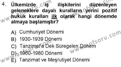 Sosyal Politika Dersi 2012 - 2013 Yılı Dönem Sonu Sınavı 4. Soru