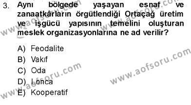 Sosyal Politika Dersi 2013 - 2014 Yılı Ara Sınavı 3. Soru
