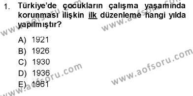 Sosyal Politika Dersi 2013 - 2014 Yılı Dönem Sonu Sınavı 1. Soru