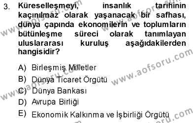 Sosyal Politika Dersi 2013 - 2014 Yılı Dönem Sonu Sınavı 3. Soru