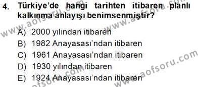 Sosyal Politika Dersi 2014 - 2015 Yılı Ara Sınavı 4. Soru