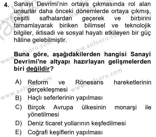 Sosyal Bilimler Bölümü 1. Yarıyıl Sosyal Politika Dersi 2018 Yılı Güz Dönemi Ara Sınavı 4. Soru