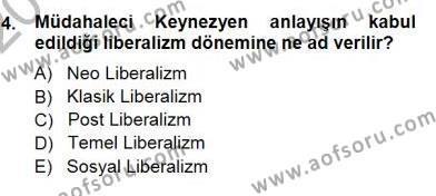 Çalışma Ekonomisi ve Endüstri İlişkileri Bölümü 3. Yarıyıl Sosyal Politika I Dersi 2013 Yılı Güz Dönemi Dönem Sonu Sınavı 4. Soru