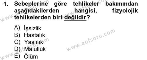 Sosyal Politika 2 Dersi 2012 - 2013 Yılı (Vize) Ara Sınav Soruları 1. Soru