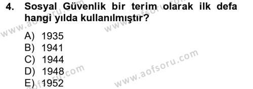 Sosyal Politika 2 Dersi 2012 - 2013 Yılı (Vize) Ara Sınav Soruları 4. Soru