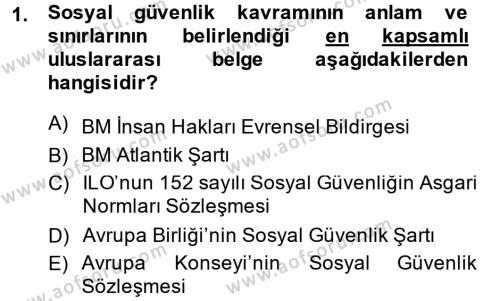 Sosyal Politika 2 Dersi 2013 - 2014 Yılı Ara Sınavı 1. Soru