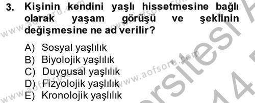 Sosyal Politika 2 Dersi 2013 - 2014 Yılı Dönem Sonu Sınavı 3. Soru