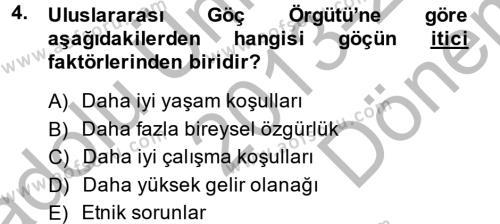 Sosyal Politika 2 Dersi 2013 - 2014 Yılı Dönem Sonu Sınavı 4. Soru