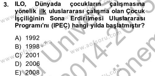 Sosyal Politika 2 Dersi 2014 - 2015 Yılı (Final) Dönem Sonu Sınav Soruları 3. Soru