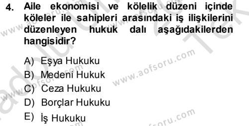 İnsan Kaynakları Yönetimi Bölümü 3. Yarıyıl Çalışma İlişkileri Dersi 2014 Yılı Güz Dönemi Tek Ders Sınavı 4. Soru
