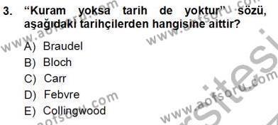 Çalışma İlişkileri Tarihi Dersi 2012 - 2013 Yılı Ara Sınavı 3. Soru