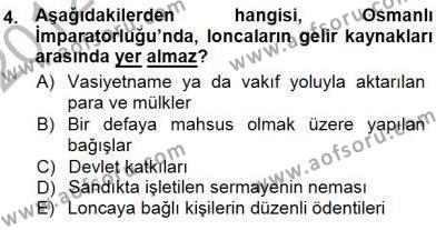 Çalışma İlişkileri Tarihi Dersi 2012 - 2013 Yılı Dönem Sonu Sınavı 4. Soru