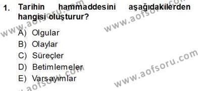 Çalışma İlişkileri Tarihi Dersi 2013 - 2014 Yılı Ara Sınavı 1. Soru