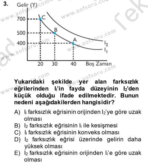 Kamu Yönetimi Bölümü 6. Yarıyıl Çalışma Ekonomisi Dersi 2014 Yılı Bahar Dönemi Tek Ders Sınavı 3. Soru