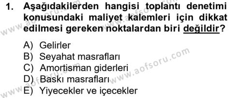 Toplantı Ve Sunu Teknikleri Dersi 2012 - 2013 Yılı Ara Sınavı 1. Soru