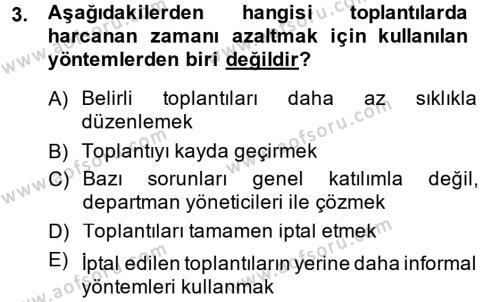 Toplantı Ve Sunu Teknikleri Dersi 2013 - 2014 Yılı (Final) Dönem Sonu Sınavı 3. Soru