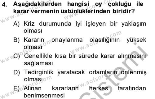 Toplantı Ve Sunu Teknikleri Dersi 2013 - 2014 Yılı (Final) Dönem Sonu Sınavı 4. Soru