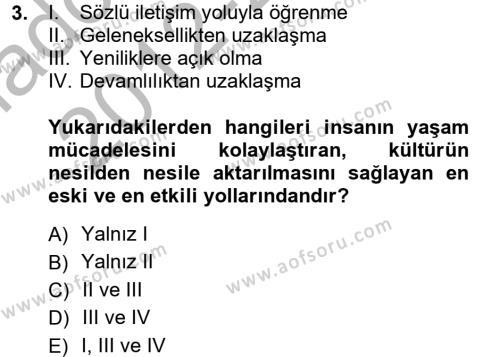 Halk Edebiyatına Giriş 1 Dersi 2012 - 2013 Yılı Ara Sınavı 3. Soru