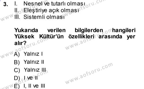 Halk Edebiyatına Giriş 1 Dersi 2013 - 2014 Yılı (Vize) Ara Sınav Soruları 3. Soru