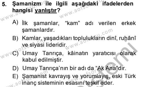 Türk Dili ve Edebiyatı Bölümü 2. Yarıyıl Halk Edebiyatına Giriş II Dersi 2015 Yılı Bahar Dönemi Dönem Sonu Sınavı 5. Soru
