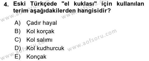 Halk Edebiyatına Giriş 2 Dersi 2015 - 2016 Yılı (Final) Dönem Sonu Sınav Soruları 4. Soru