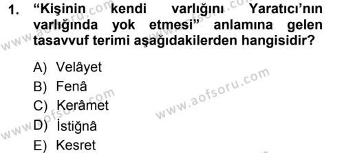 Eski Türk Edebiyatına Giriş: Biçim ve Ölçü Dersi 2012 - 2013 Yılı (Vize) Ara Sınav Soruları 1. Soru