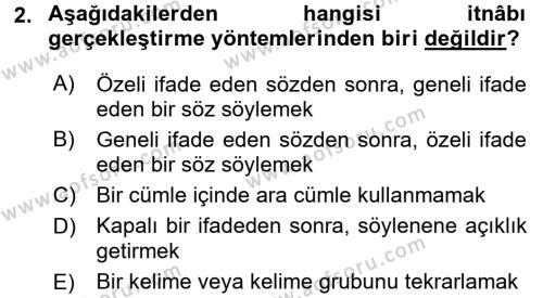 Eski Türk Edebiyatına Giriş: Söz Sanatları Dersi 2017 - 2018 Yılı (Vize) Ara Sınav Soruları 2. Soru