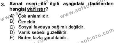 Batı Edebiyatında Akımlar 1 Dersi 2012 - 2013 Yılı (Vize) Ara Sınav Soruları 3. Soru