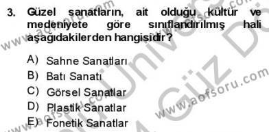 Batı Edebiyatında Akımlar 1 Dersi 2013 - 2014 Yılı (Vize) Ara Sınav Soruları 3. Soru