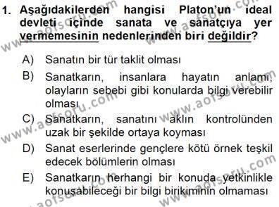 Türk Dili ve Edebiyatı Bölümü 1. Yarıyıl Batı Edebiyatında Akımlar I Dersi 2016 Yılı Güz Dönemi Dönem Sonu Sınavı 1. Soru