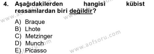 Batı Edebiyatında Akımlar 2 Dersi 2012 - 2013 Yılı (Final) Dönem Sonu Sınav Soruları 4. Soru