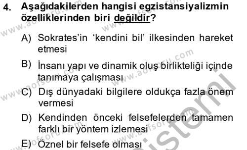 Batı Edebiyatında Akımlar 2 Dersi 2014 - 2015 Yılı (Final) Dönem Sonu Sınav Soruları 4. Soru
