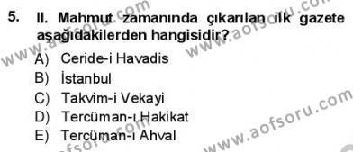 Türk Dili ve Edebiyatı Bölümü 1. Yarıyıl Yeni Türk Edebiyatına Giriş I Dersi 2013 Yılı Güz Dönemi Ara Sınavı 5. Soru