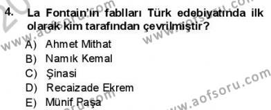 Yeni Türk Edebiyatına Giriş 1 Dersi 2012 - 2013 Yılı (Final) Dönem Sonu Sınav Soruları 4. Soru