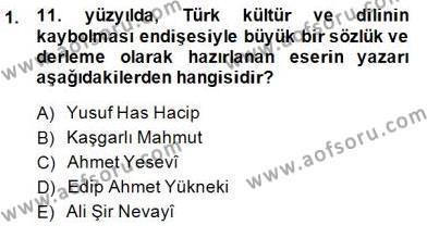 Yeni Türk Edebiyatına Giriş 1 Dersi 2014 - 2015 Yılı (Vize) Ara Sınav Soruları 1. Soru