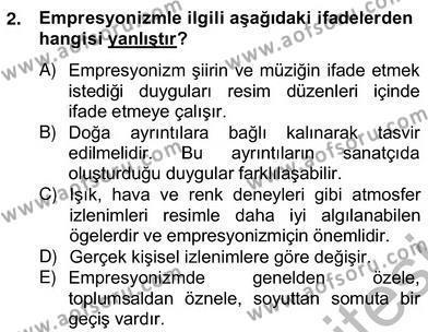 Yeni Türk Edebiyatına Giriş 2 Dersi 2012 - 2013 Yılı (Vize) Ara Sınav Soruları 2. Soru