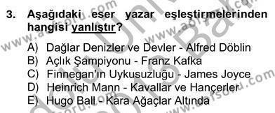 Yeni Türk Edebiyatına Giriş 2 Dersi 2012 - 2013 Yılı (Vize) Ara Sınav Soruları 3. Soru