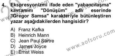 Yeni Türk Edebiyatına Giriş 2 Dersi 2012 - 2013 Yılı (Vize) Ara Sınav Soruları 4. Soru