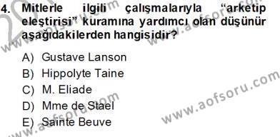 Yeni Türk Edebiyatına Giriş 2 Dersi 2013 - 2014 Yılı (Final) Dönem Sonu Sınav Soruları 4. Soru