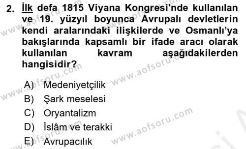 Yeni Türk Edebiyatına Giriş 2 Dersi 2017 - 2018 Yılı (Vize) Ara Sınav Soruları 2. Soru