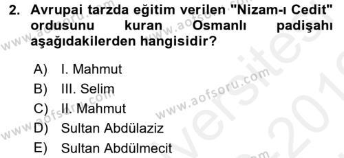 Yeni Türk Edebiyatına Giriş 2 Dersi 2018 - 2019 Yılı (Vize) Ara Sınav Soruları 2. Soru