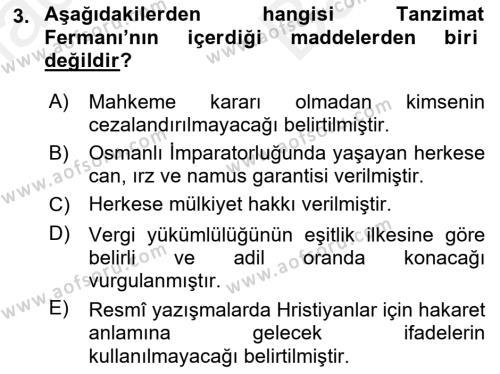 Yeni Türk Edebiyatına Giriş 2 Dersi 2018 - 2019 Yılı (Vize) Ara Sınav Soruları 3. Soru