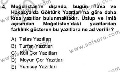 VIII-XIII. Yüzyıllar Türk Edebiyatı Dersi 2012 - 2013 Yılı Ara Sınavı 4. Soru