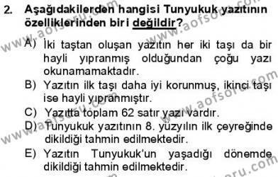 VIII-XIII. Yüzyıllar Türk Edebiyatı Dersi 2012 - 2013 Yılı (Final) Dönem Sonu Sınav Soruları 2. Soru