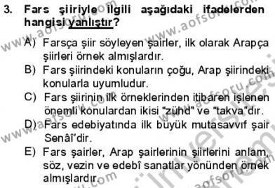 VIII-XIII. Yüzyıllar Türk Edebiyatı Dersi 2012 - 2013 Yılı (Final) Dönem Sonu Sınav Soruları 3. Soru