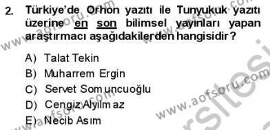 VIII-XIII. Yüzyıllar Türk Edebiyatı Dersi 2013 - 2014 Yılı (Final) Dönem Sonu Sınav Soruları 2. Soru