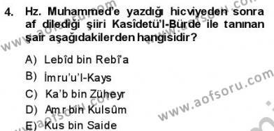 VIII-XIII. Yüzyıllar Türk Edebiyatı Dersi 2013 - 2014 Yılı (Final) Dönem Sonu Sınav Soruları 4. Soru